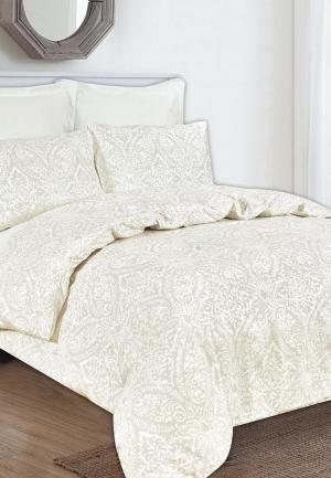 Комплект постельного белья Евро Sofi De Marko. Цвет: бежевый