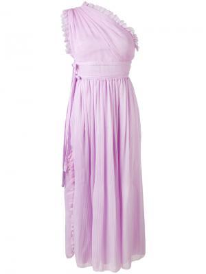 One shoulder dress Rochas. Цвет: розовый и фиолетовый