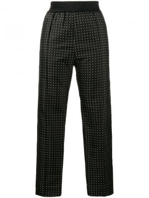 Узкие брюки в горох Haider Ackermann. Цвет: чёрный