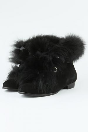 Ботинки зимние Sattini. Цвет: черный
