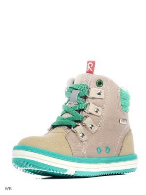Ботинки Reima. Цвет: оливковый, кремовый