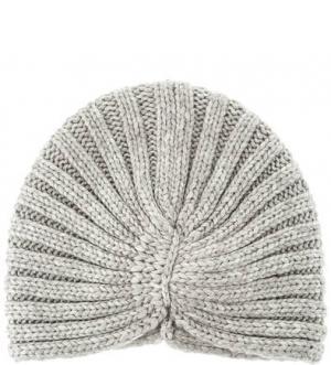 Вязаная шапка-чалма Noryalli. Цвет: серый