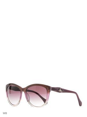 Солнцезащитные очки VW 860S 07 Vivienne Westwood. Цвет: фиолетовый, прозрачный