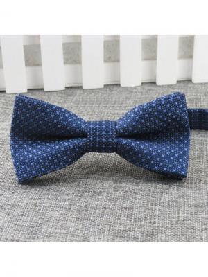 Галстук-бабочка Churchill accessories. Цвет: синий, серый