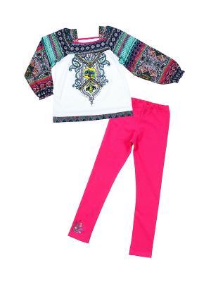 Комплект одежды Апрель. Цвет: розовый, белый, бирюзовый