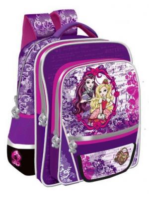 Рюкзак Junior Ever After High с ортопедической спиной. Mattel. Цвет: розовый, серебристый, фиолетовый