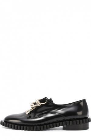 Кожаные ботинки Cake с декорированными полукольцами Coliac. Цвет: черный