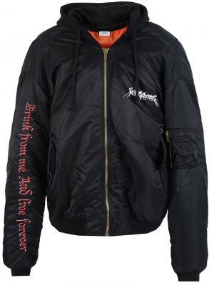 Куртка-бомбер с капюшоном Vetements. Цвет: чёрный