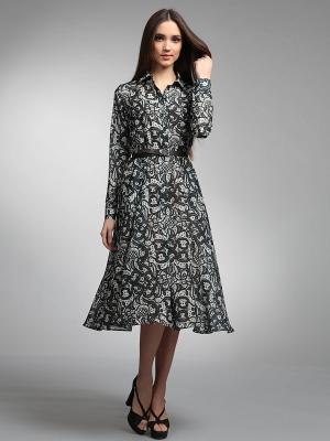 Платье ЭНСО. Цвет: черный, белый