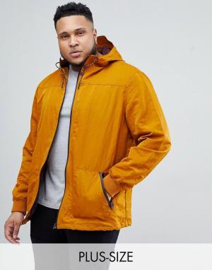 River Island Пальто с капюшоном горчичного цвета Big And Tall. Цвет: желтый