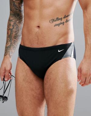 Nike Swimming Черные плавки NESS7054-001. Цвет: черный