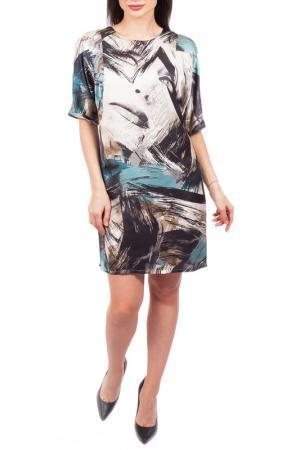 Свободное платье с принтом Mees. Цвет: зеленый