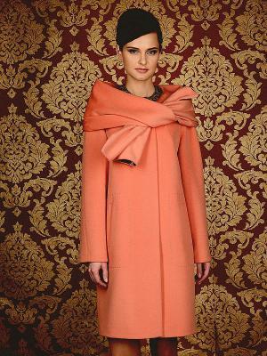 Пальто Pompa. Цвет: персиковый