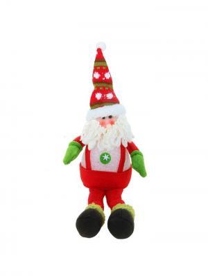 Световая игрушка Дед Мороз в комбинезоне, 40 см А М Дизайн. Цвет: черный, светло-зеленый, темно-бежевый, красный, розовый, персиковый, белый