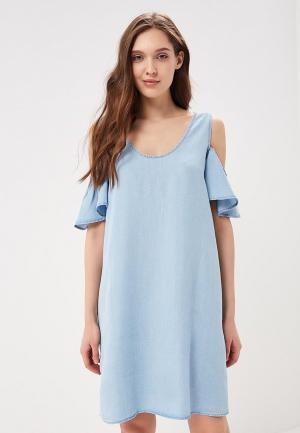 Платье джинсовое Noisy May. Цвет: голубой