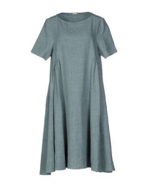 Платье до колена A.B APUNTOB. Цвет: серый