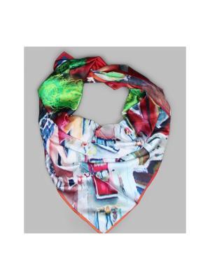 Арт-платок Моя любовь на 5ом этаже Оланж Ассорти. Цвет: красный