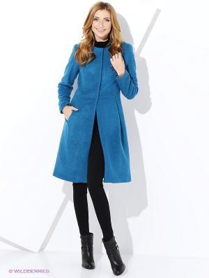 Пальто IMAGO. Цвет: бирюзовый