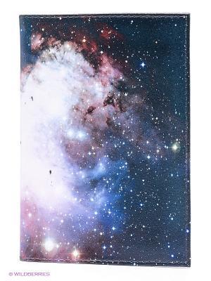 Обложка для автодокументов Космос Mitya Veselkov. Цвет: синий, розовый