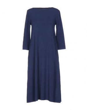 Платье до колена BASE. Цвет: грифельно-синий