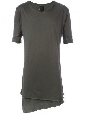 Удлиненная футболка Thom Krom. Цвет: зелёный
