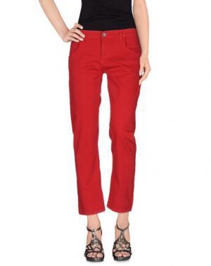 Джинсовые брюки GOLDSIGN. Цвет: красный