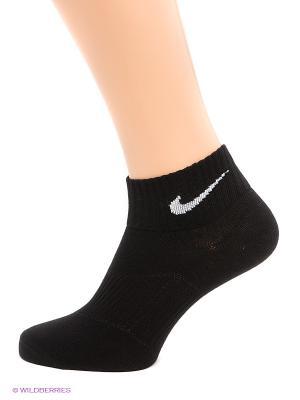 Носки 3 пары 3PPK LIGHTWEIGHT QUARTER Nike. Цвет: черный