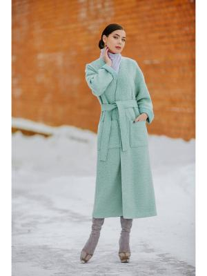 Пальто Exalta. Цвет: бирюзовый