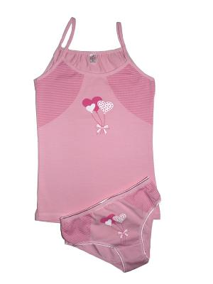 Комплект белья Ots. Цвет: розовый