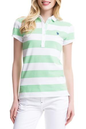 Футболка U.S. Polo Assn.. Цвет: ys0571 зеленый, белый