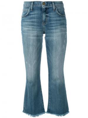 Укороченные джинсы Flip Flop Current/Elliott. Цвет: синий
