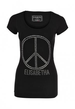 Футболка Elisabetha Collection. Цвет: черный