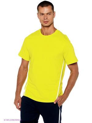 Футболка Форма. Цвет: зеленый, желтый