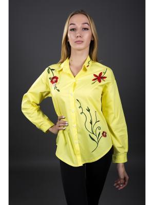 Рубашка Fronzoli. Цвет: желтый