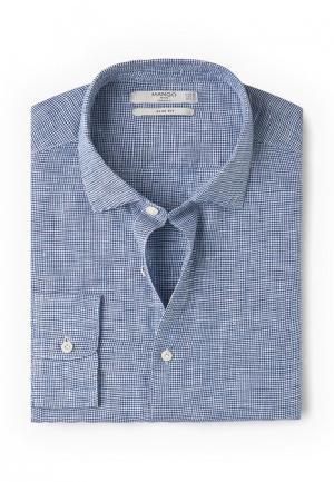 Рубашка Mango Man. Цвет: синий