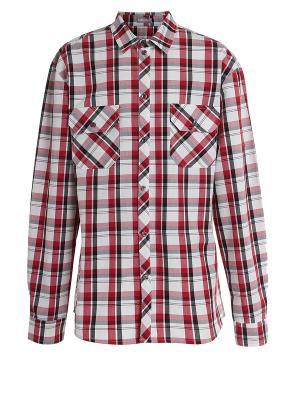 Рубашка Sabotage. Цвет: малиновый, черный