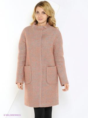 Пальто FORTUNA. Цвет: темно-бежевый, бледно-розовый, хаки