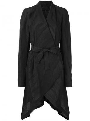 Драпированное пальто Masnada. Цвет: чёрный