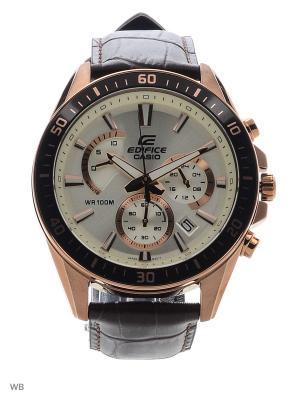 Часы Edifice EFR-552GL-7A CASIO. Цвет: светло-бежевый