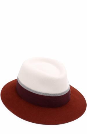 Фетровая шляпа Andre с лентой Maison Michel. Цвет: белый