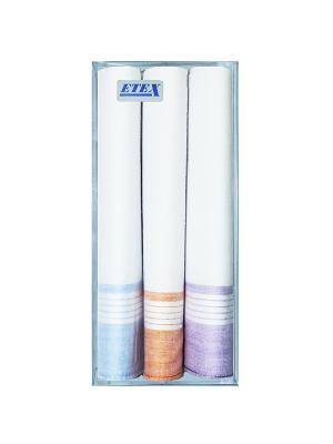 Платки нос. женские по 3 шт.х/б ZLATA KORUNKA. Цвет: белый