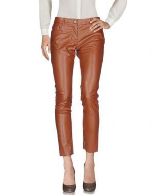 Повседневные брюки SUOLI. Цвет: коричневый