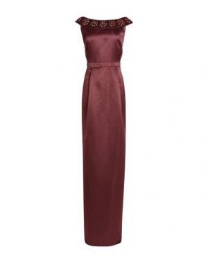 Длинное платье RAOUL. Цвет: красно-коричневый