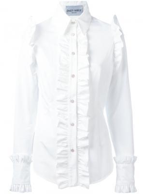 Ruffled shirt Daizy Shely. Цвет: белый