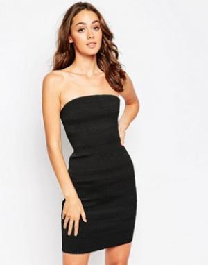 Sistaglam Облегающее платье-бандо Kim. Цвет: черный