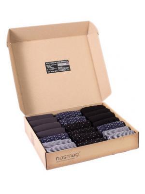 Набор носков Stylish 20 пар, с сургучной печатью. NosMag. Цвет: черный, антрацитовый, темно-синий