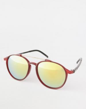 Trip Круглые солнцезащитные очки. Цвет: красный