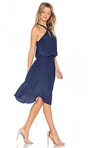 Платье caroline RAMY BROOK. Цвет: синий
