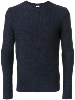 Трикотажный свитер Borrelli. Цвет: синий