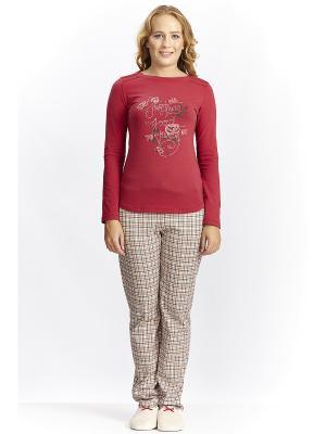 Пижама с брюками RELAX MODE. Цвет: серо-коричневый